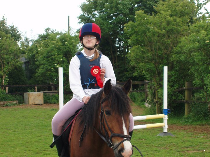 me on my favourite riding school pony