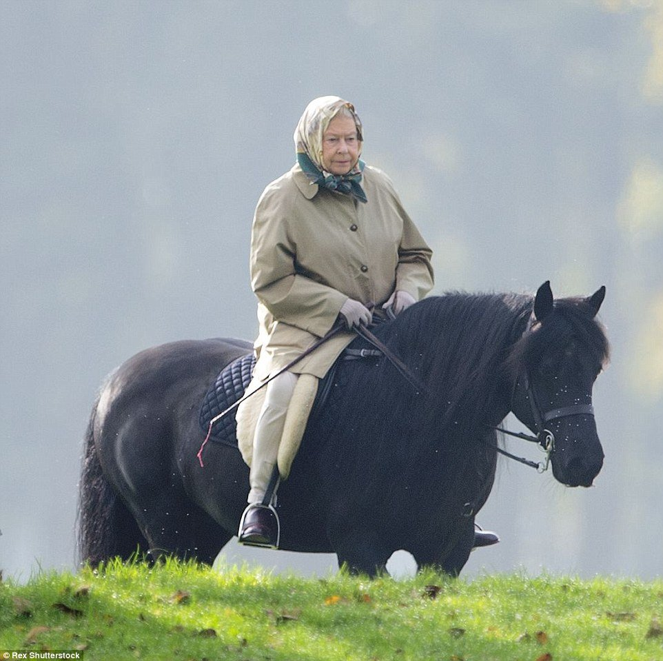 the queen riding