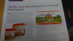 Own photo of my article in Equine Health magazine.