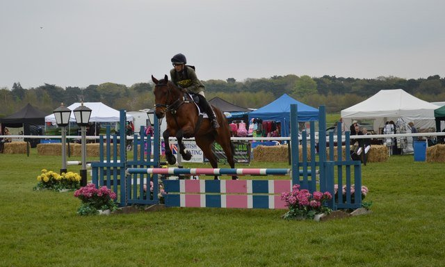 In eventing the show jumping iis typically on grass