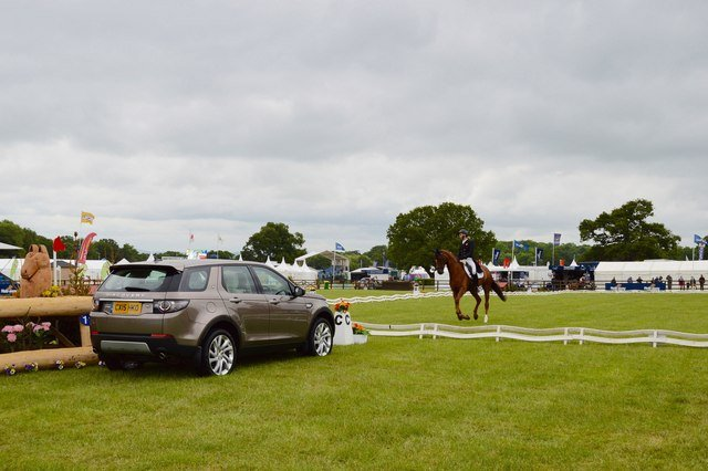 Eventing the dressage phase is typically on grass