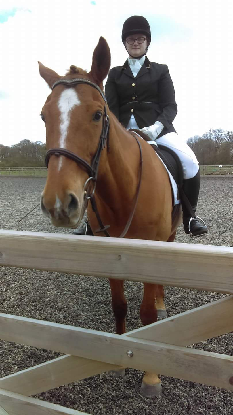 Us at our dressage show