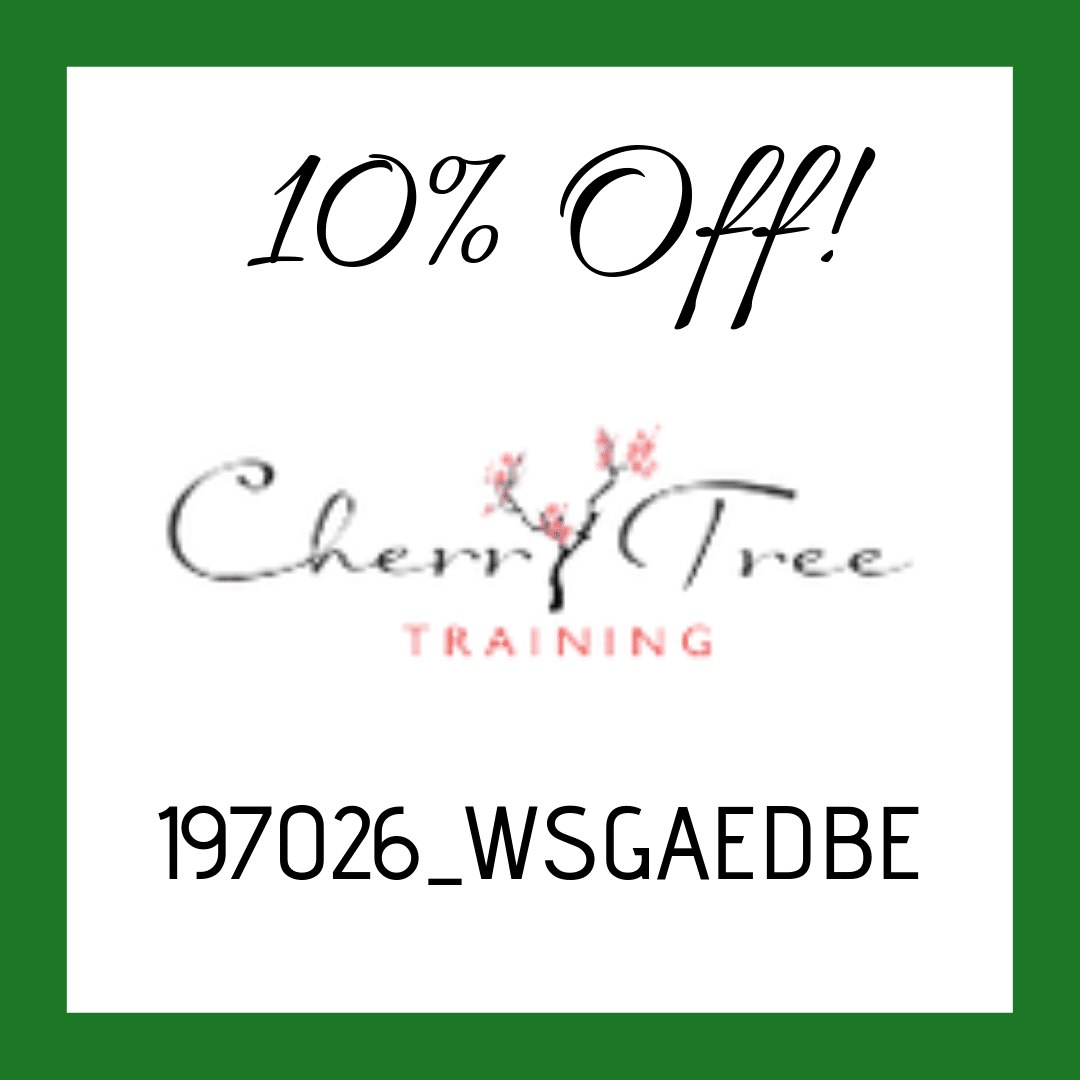 10% off Cherry Tree Training with our code
