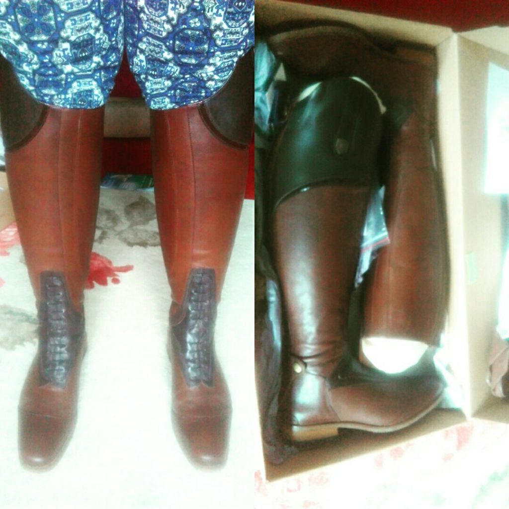 mountain horse boots, tack up