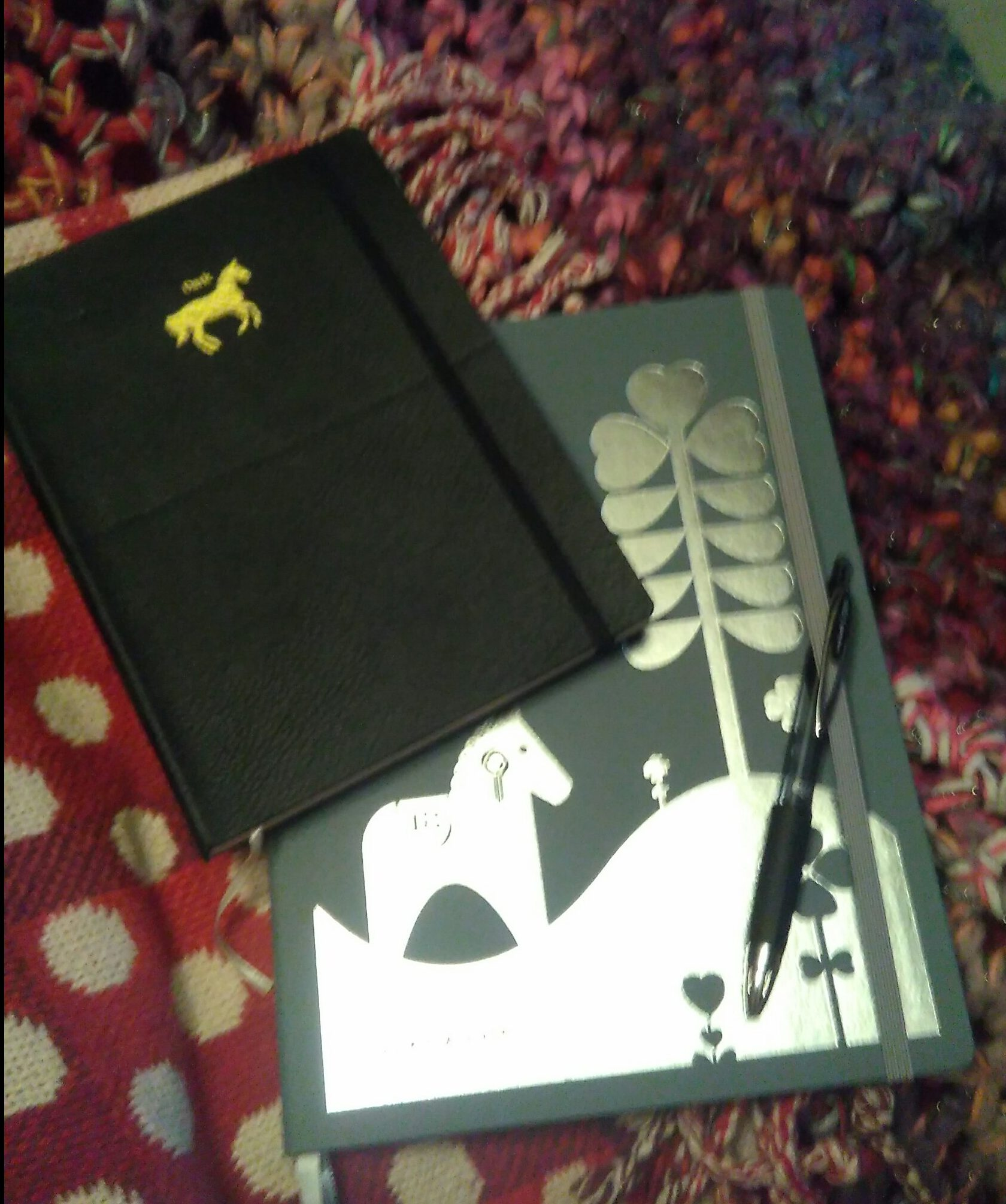diary and notepad