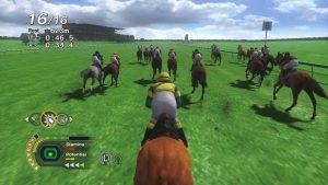 A screenshot of raceplay in Champion Jockey