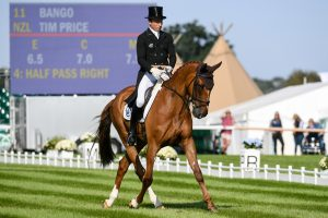 Tim Price (NZL) riding BANGO at Burghley dressage