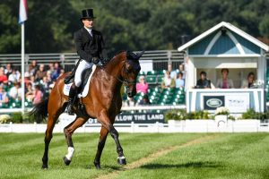 Alexander Bragg riding ZAGREB Burghley Dressage