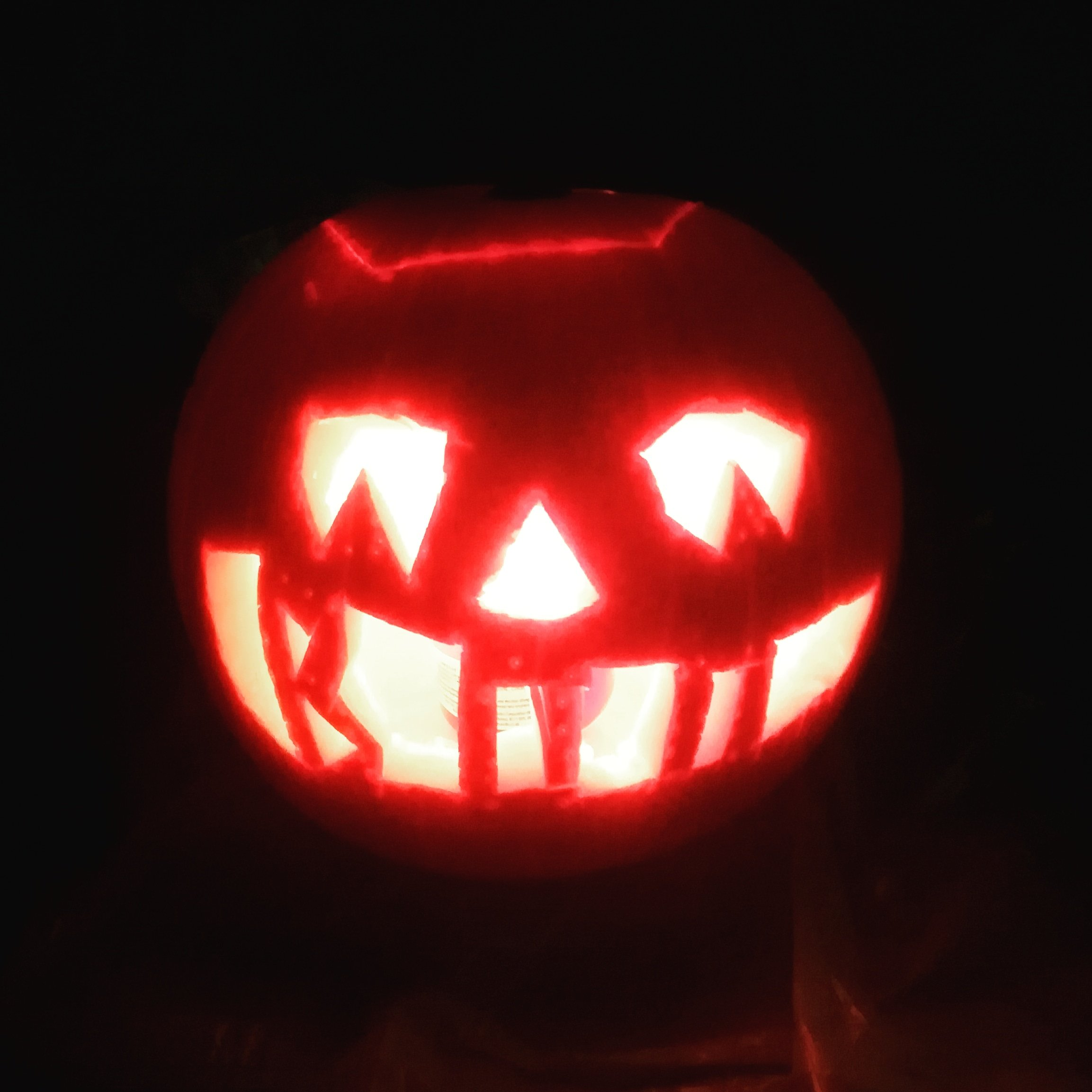 happy halloween! tell ghost stories around my spooky pumpkin