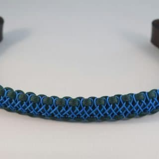 blue handwoven browband