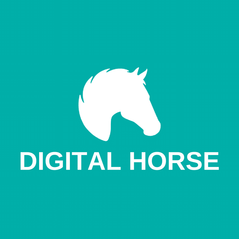 digital horse logo